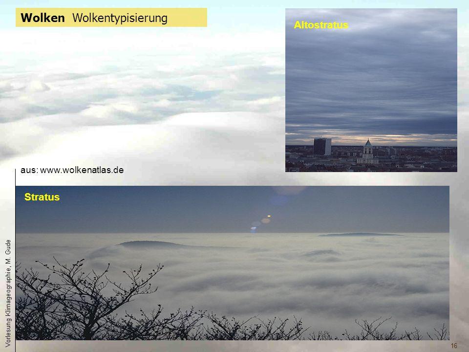 16 Wolken Wolkentypisierung Stratus Altostratus aus: www.wolkenatlas.de