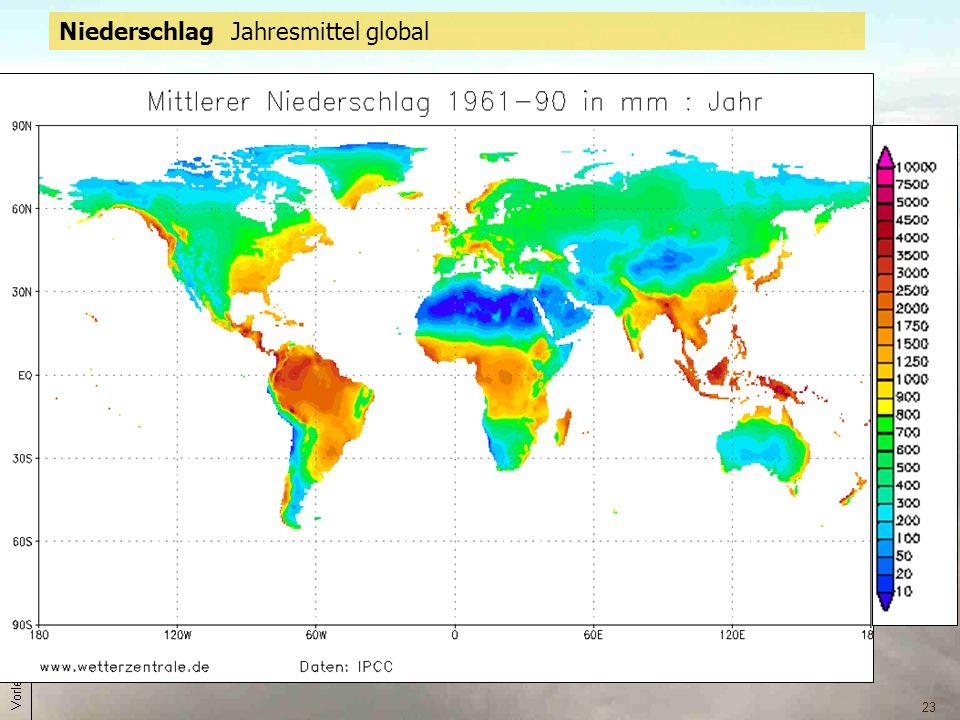 23 Niederschlag Jahresmittel global