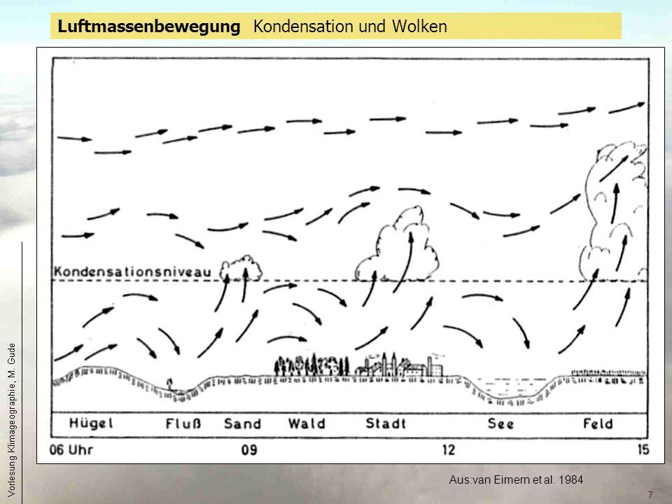 7 Aus:van Eimern et al. 1984 Luftmassenbewegung Kondensation und Wolken