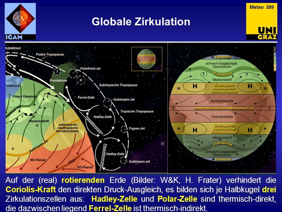 Globale Zirkulation Meteo 389 Auf der (real) rotierenden Erde (Bilder: W&K, H.