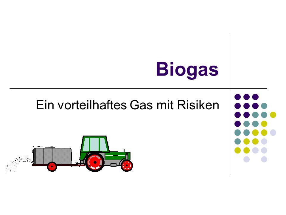 Biogas Ein vorteilhaftes Gas mit Risiken