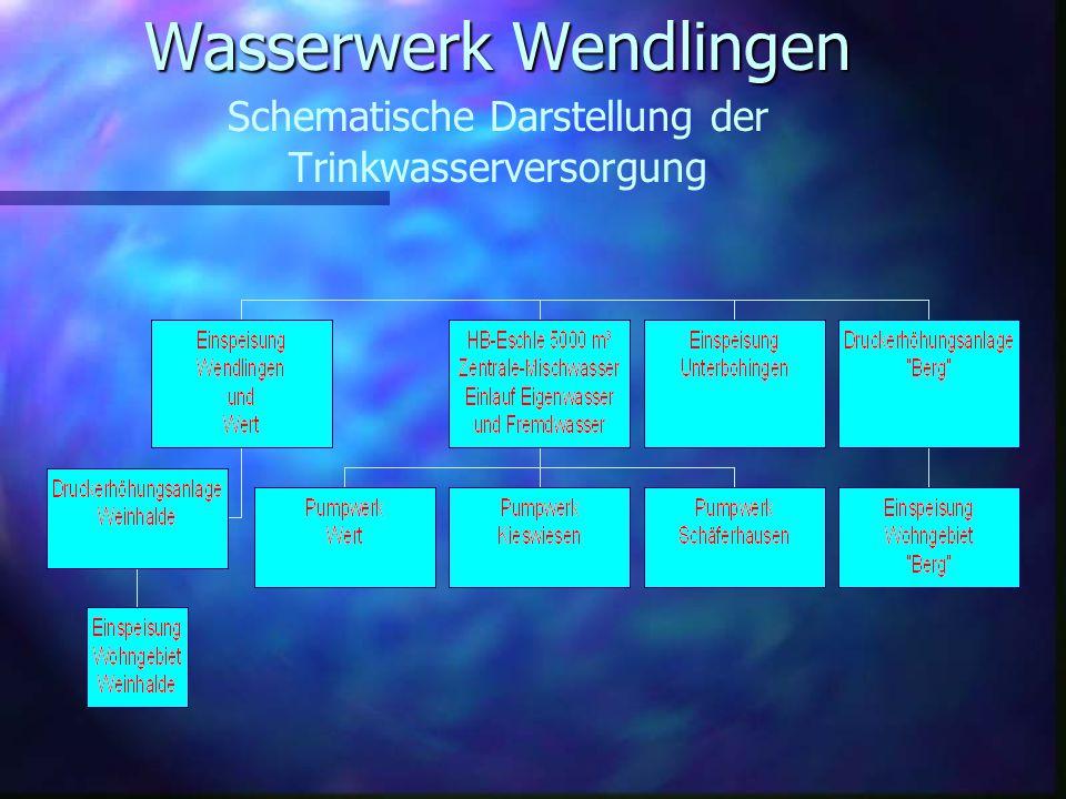 n Das Wasserwerk Wendlingen ist ein Eigenbetrieb der Stadt Wendlingen am Neckar und versorgt ca. 15600 Einwohner mit Trinkwasser. n Wir verfügen über