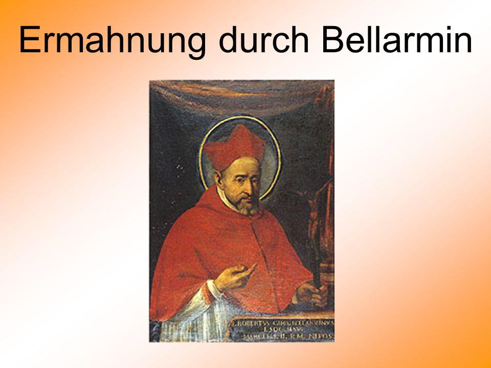 Ermahnung durch Bellarmin