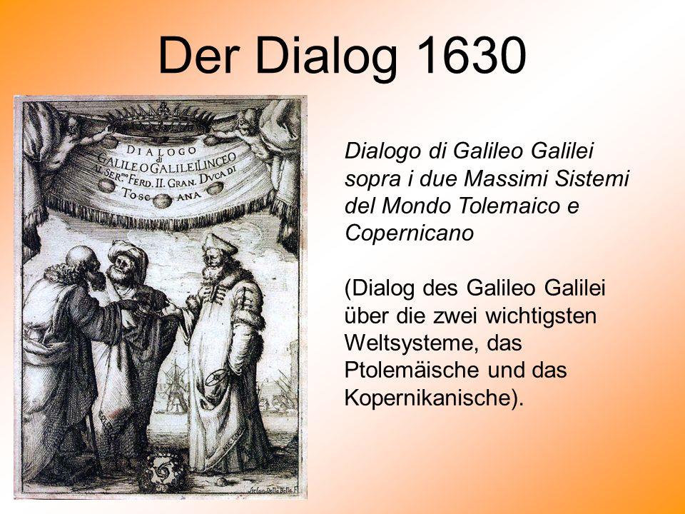 Der Dialog 1630 Dialogo di Galileo Galilei sopra i due Massimi Sistemi del Mondo Tolemaico e Copernicano (Dialog des Galileo Galilei über die zwei wic
