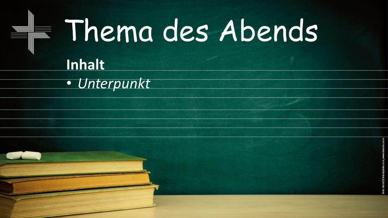 Thema des Abends Inhalt Unterpunkt Foto: dem10/istockphoto.com, www.kreartur.com