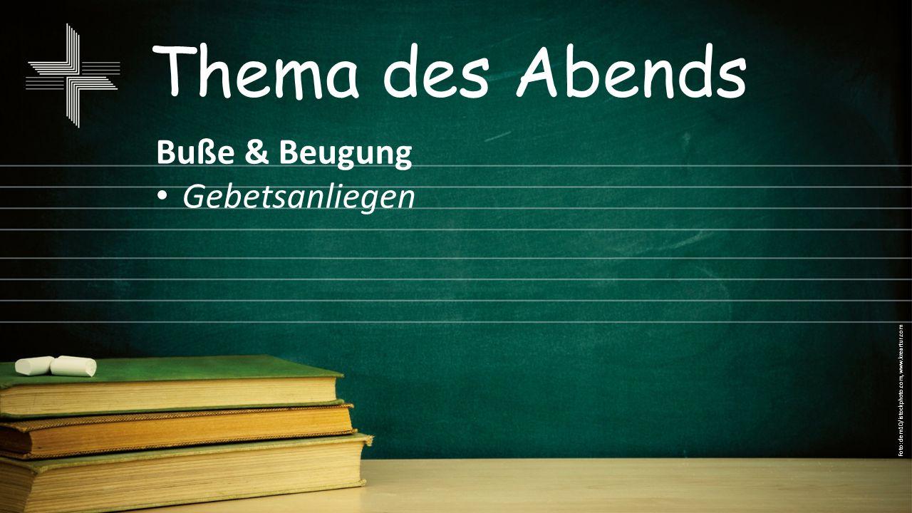 Thema des Abends Bitte & Fürbitte Gebetsanliegen Foto: dem10/istockphoto.com, www.kreartur.com
