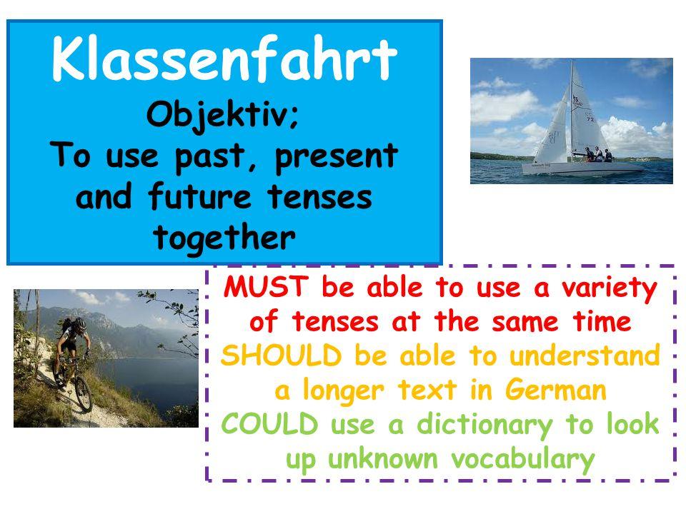 Eine Klassenfahrt nach Hannover Write an account about a class trip to Hannover.