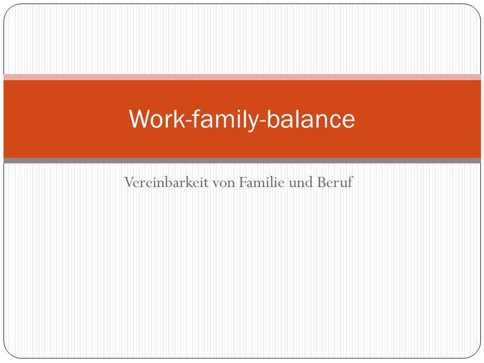 Vereinbarkeit von Familie und Beruf Work-family-balance