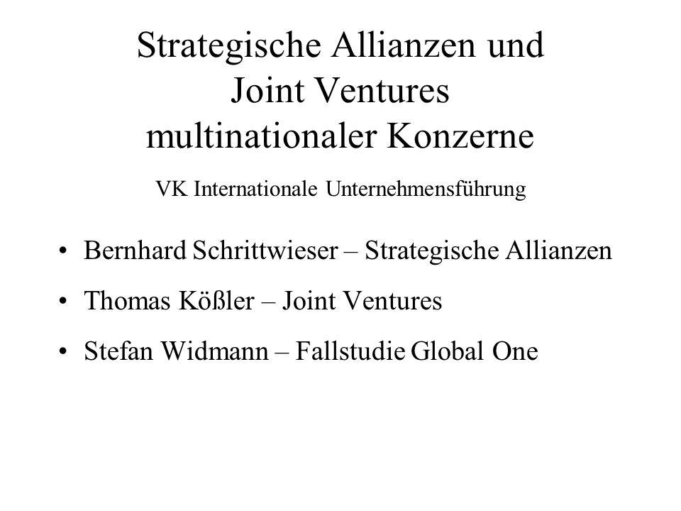 Strategische Allianzen Verschiedene Formen: Interessensgemeinschaft Arbeitsgemeinschaft Konsortium Cluster Kartell