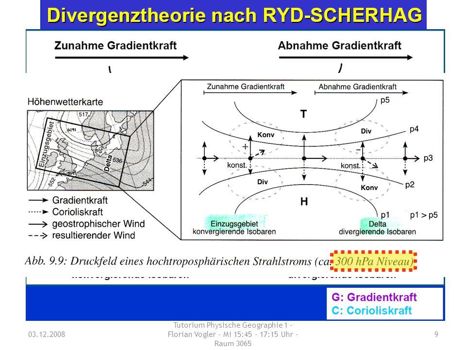 03.12.2008 Tutorium Physische Geographie 1 - Florian Vogler - Mi 15:45 - 17:15 Uhr - Raum 3065 9