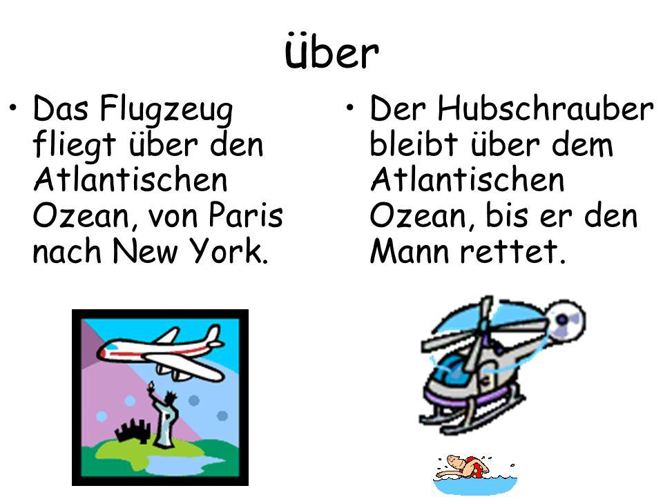 ü ber Das Flugzeug fliegt über den Atlantischen Ozean, von Paris nach New York.
