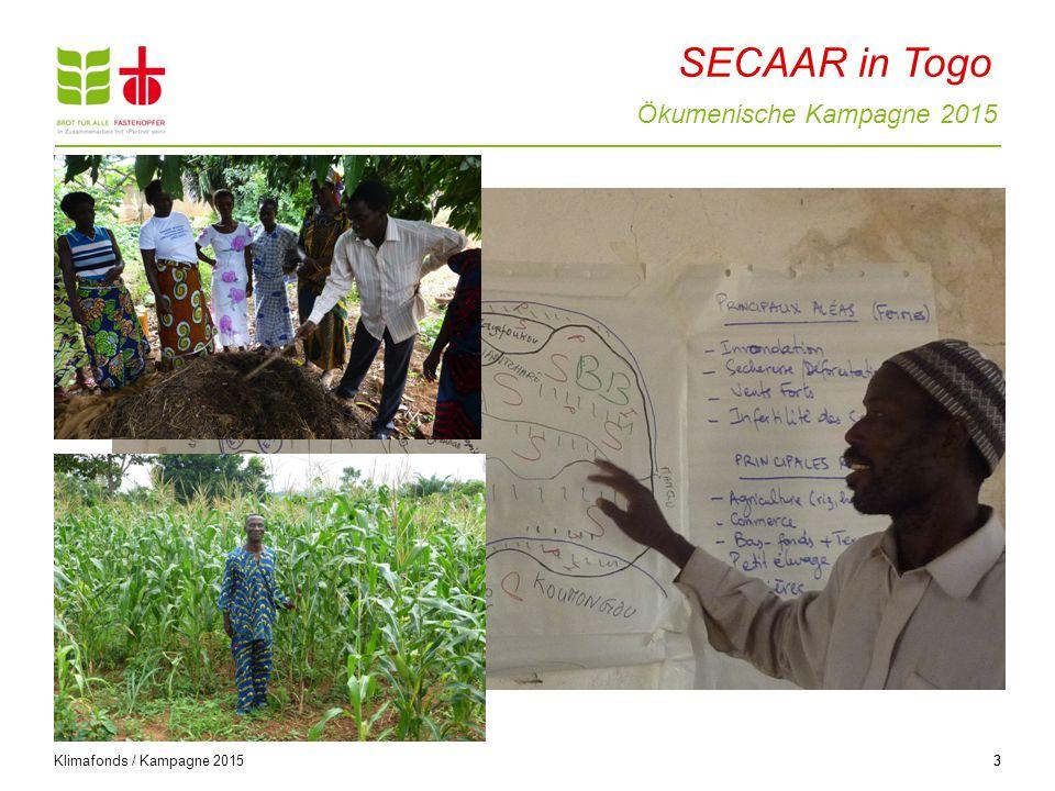 Ökumenische Kampagne 2015 3 Klimafonds / Kampagne 2015 3 SECAAR in Togo