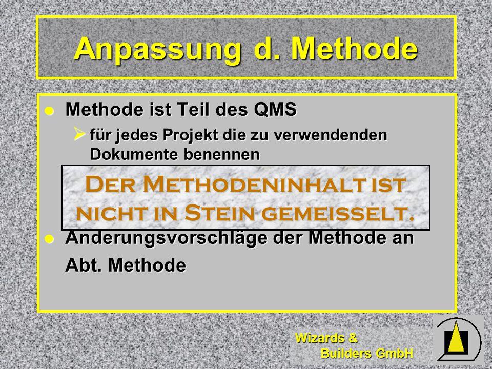 Wizards & Builders GmbH Anpassung d.