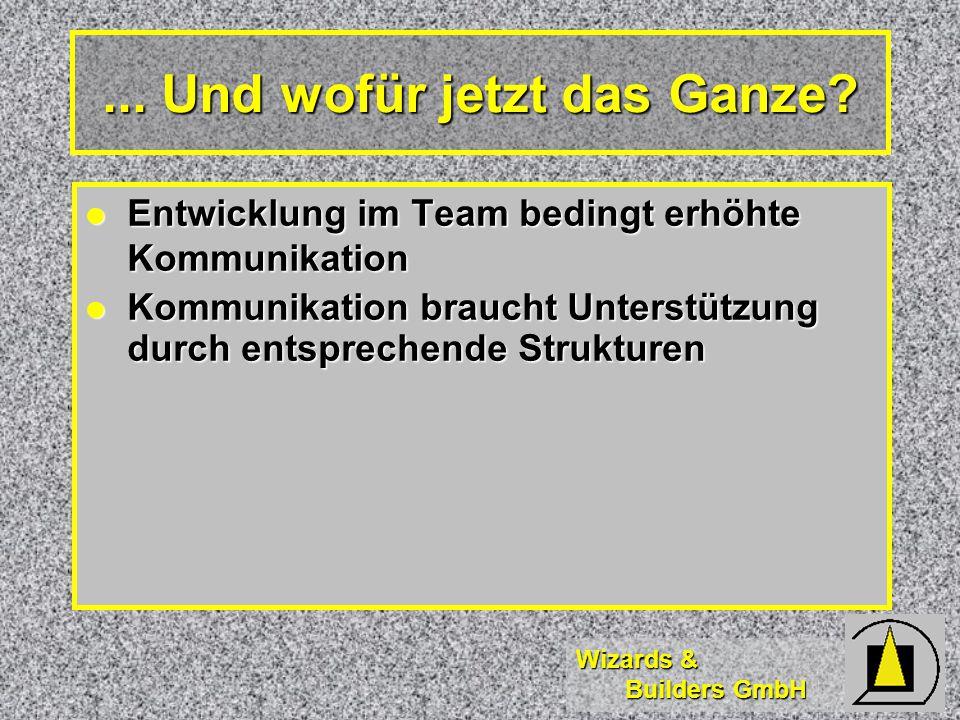 Wizards & Builders GmbH... Und wofür jetzt das Ganze.