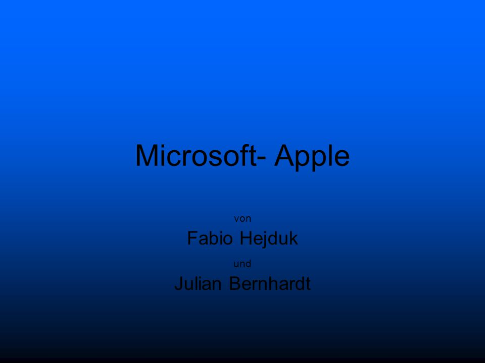 Multinationaler Softwareentwickler Firmenname: Microcomputer- Software Microsoft