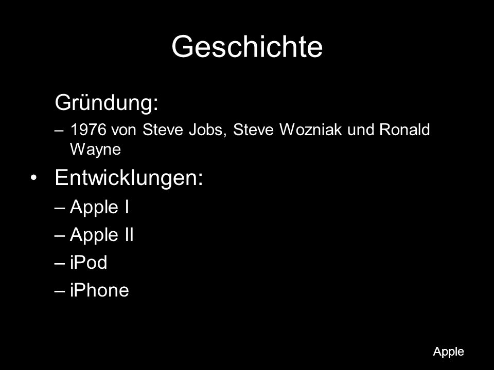 Betriebssysteme Apple DOS Apple SOS Apple ProDOS Lisa OS GS/OS A/UX Mac OS Mac OS X (von der Public Beta bis Leopard) Mac OS X Server (aktuelle Version: siehe Mac OS X) OS X iPhone Apple