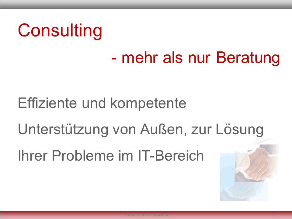 Software Lösung – Angepasst an Ihre Bedürfnisse www.software-fischer.de4 - individuell wie Ihr Problem