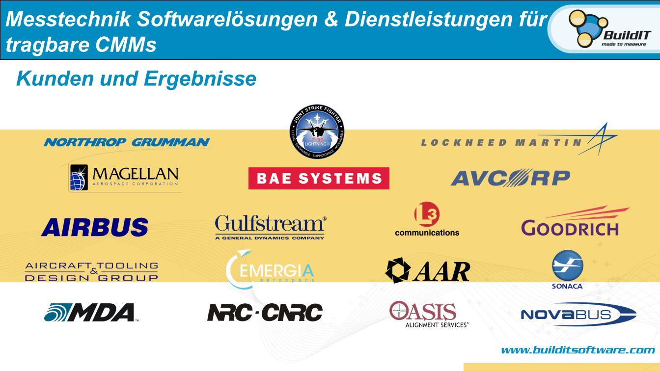 Messtechnik Softwarelösungen & Dienstleistungen für tragbare CMMs Kunden und Ergebnisse