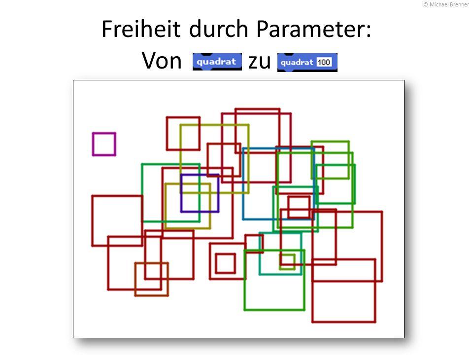 Freiheit durch Parameter: Von zu. © Michael Brenner