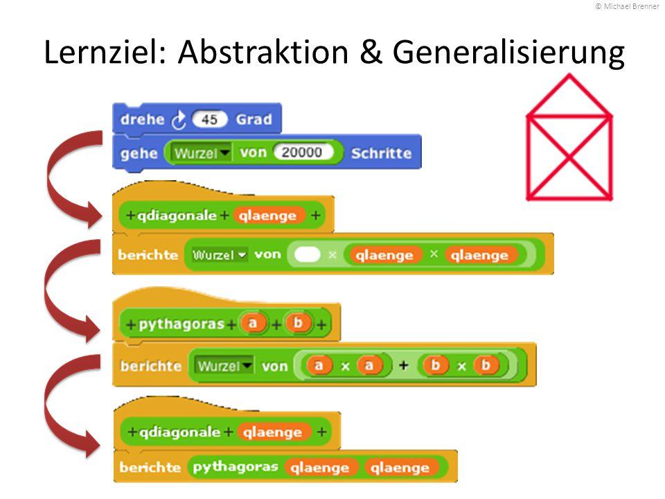 Lernziel: Abstraktion & Generalisierung © Michael Brenner