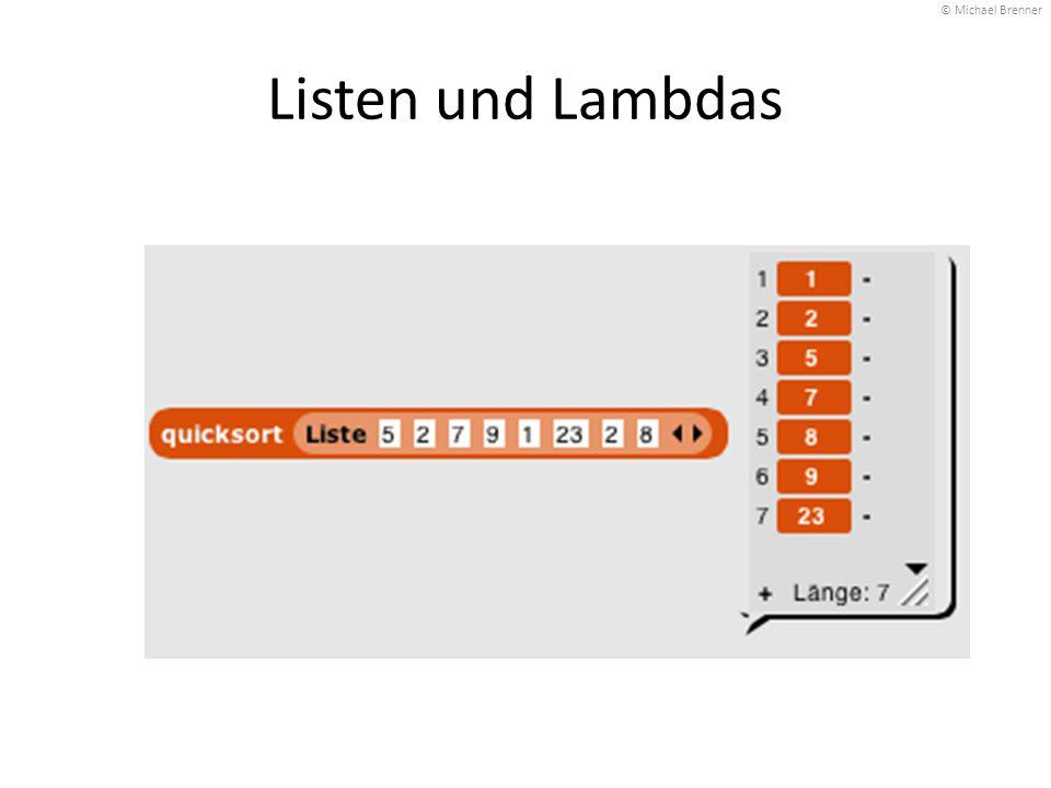 Listen und Lambdas © Michael Brenner