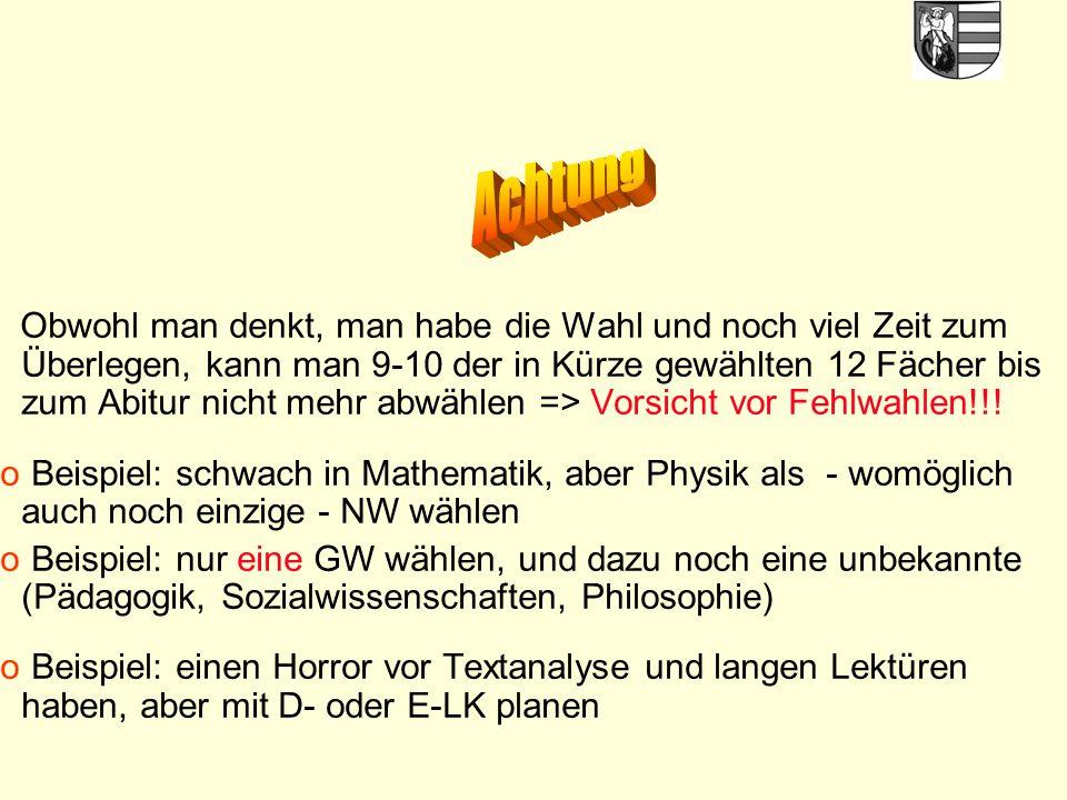 38 Block II: Abiturprüfung (mind.