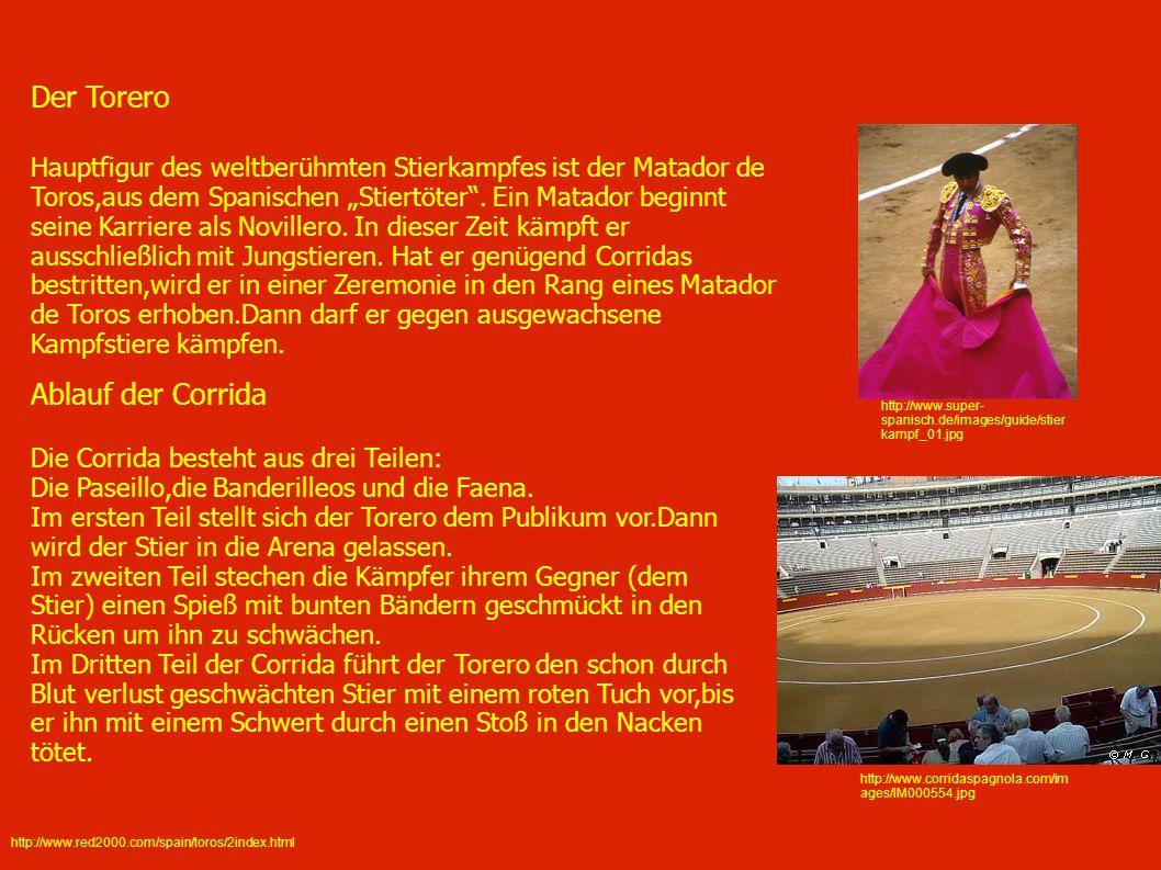 http://www.super- spanisch.de/images/guide/stier kampf_01.jpg http://www.corridaspagnola.com/im ages/IM000554.jpg Der Torero Hauptfigur des weltberühm