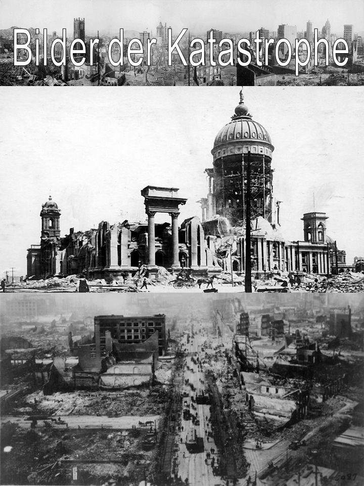In den letzten Jahrzehnten vor dem großen Beben 1906 ließ die Zahl der Erdstöße nach.