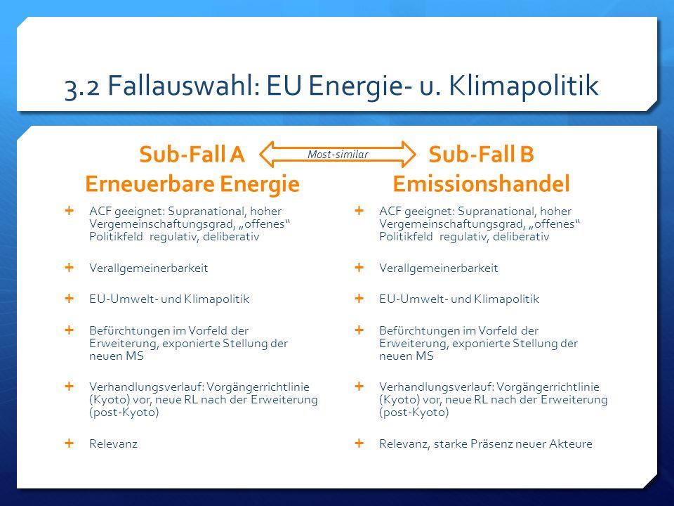 Most-similar 3.2 Fallauswahl: EU Energie- u.