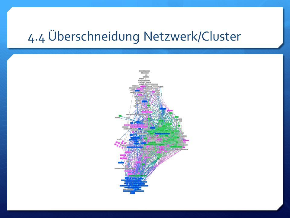 4.4 Überschneidung Netzwerk/Cluster