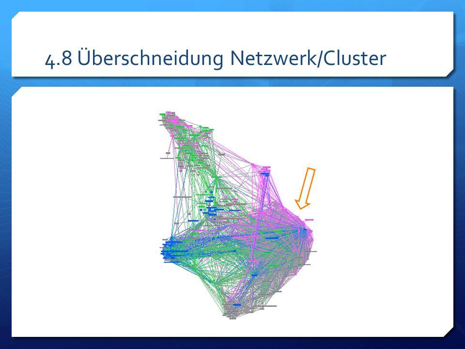 4.8 Überschneidung Netzwerk/Cluster