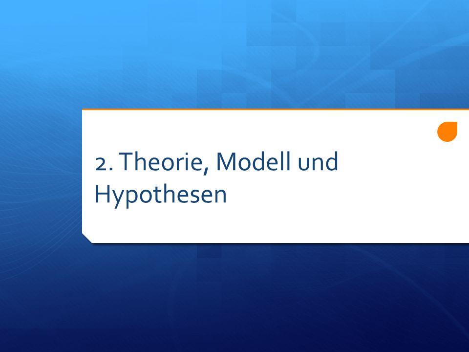2. Theorie, Modell und Hypothesen