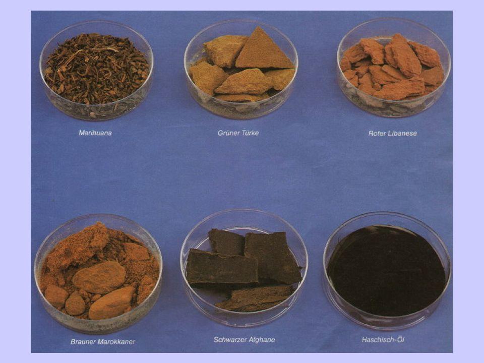 2.Konsumformen 1.Inhalieren: durch Erhitzen pur oder mit Tabak vermischt mittels z.B.