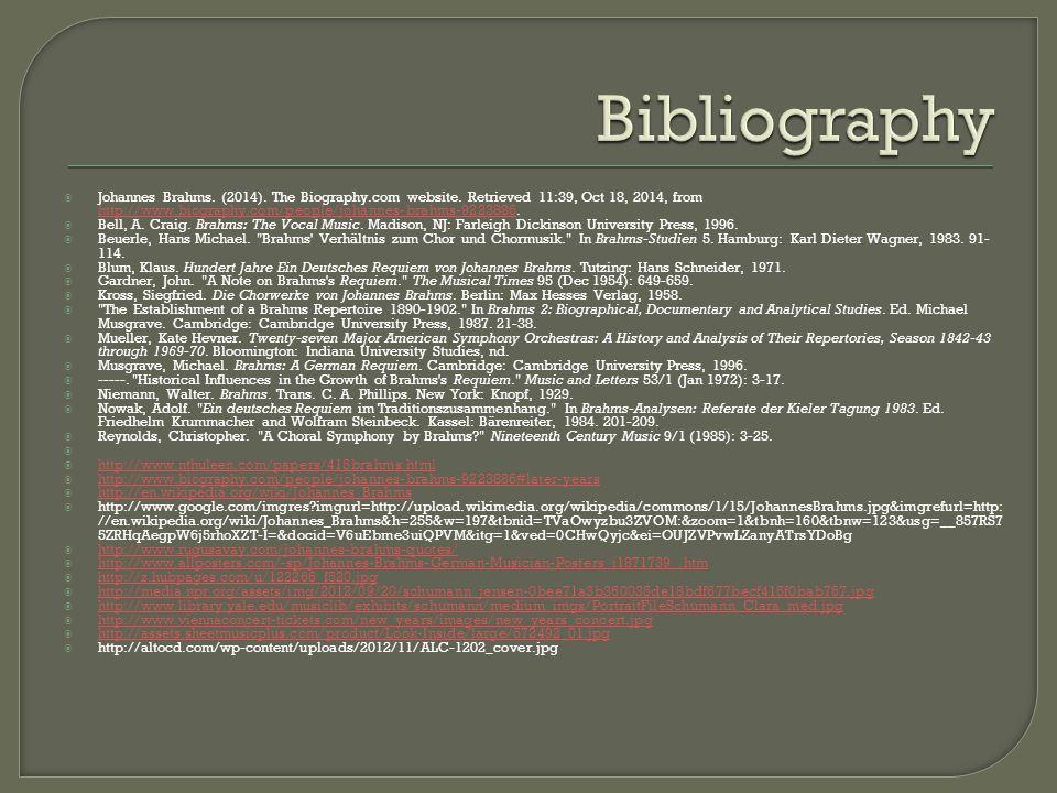  Johannes Brahms. (2014). The Biography.com website.
