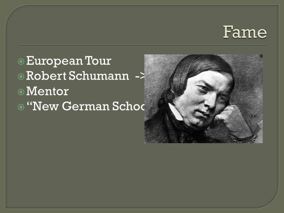  Acting mentor  Second family  Clara Schumann ->  Robert's illness