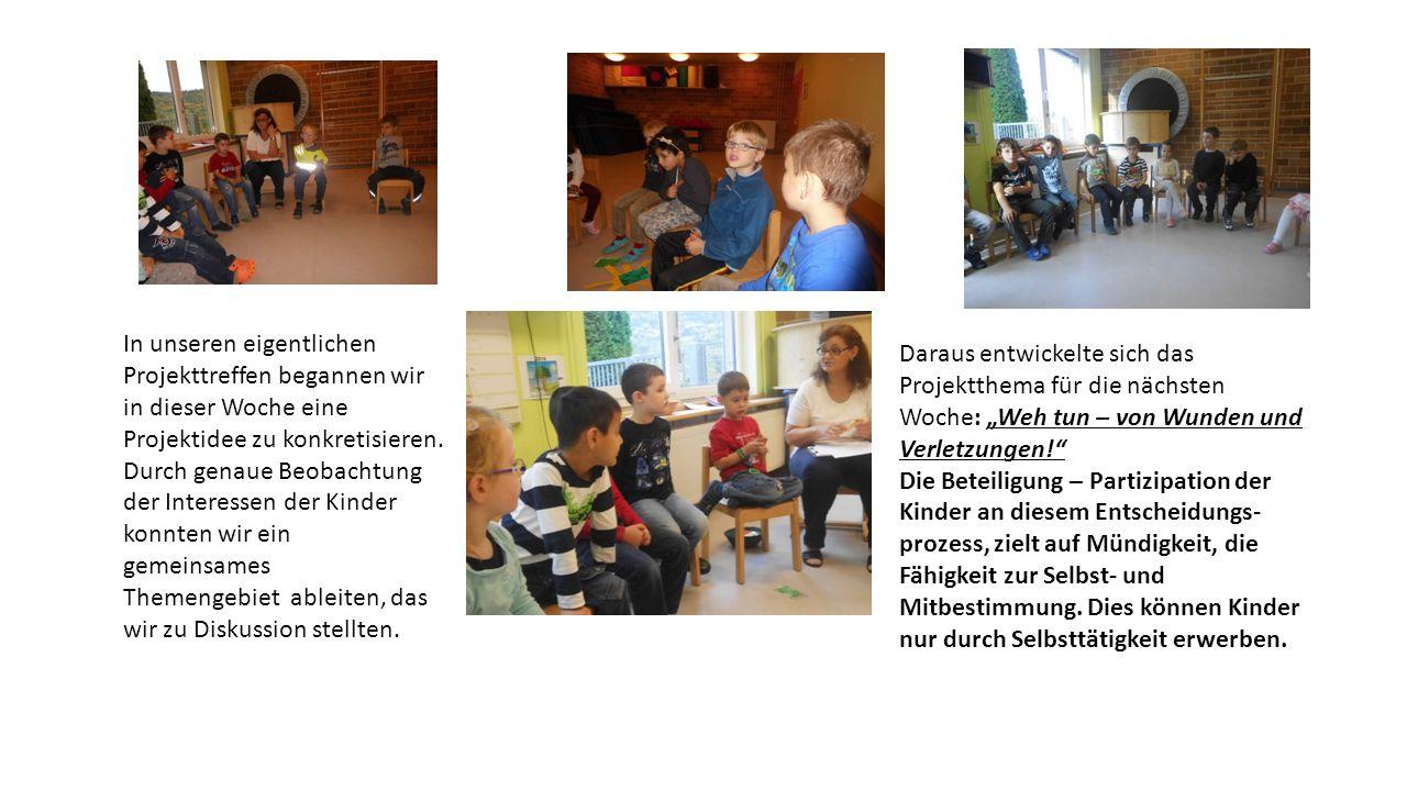In unseren eigentlichen Projekttreffen begannen wir in dieser Woche eine Projektidee zu konkretisieren.