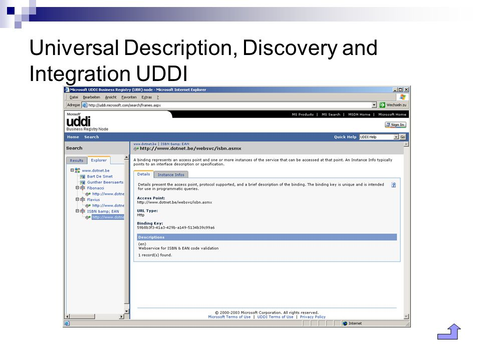 Universal Description, Discovery and Integration UDDI