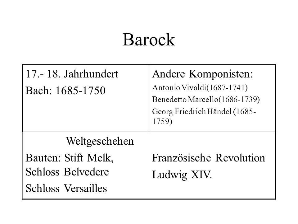 Lebenslauf Name: Johann S. Bach Geburtsjahr: 1685 Geburtsort: Eisenach Er hatte 2 Frauen, mit denen er 20 Kinder hatte. Er starb 1750 im Alter von 65