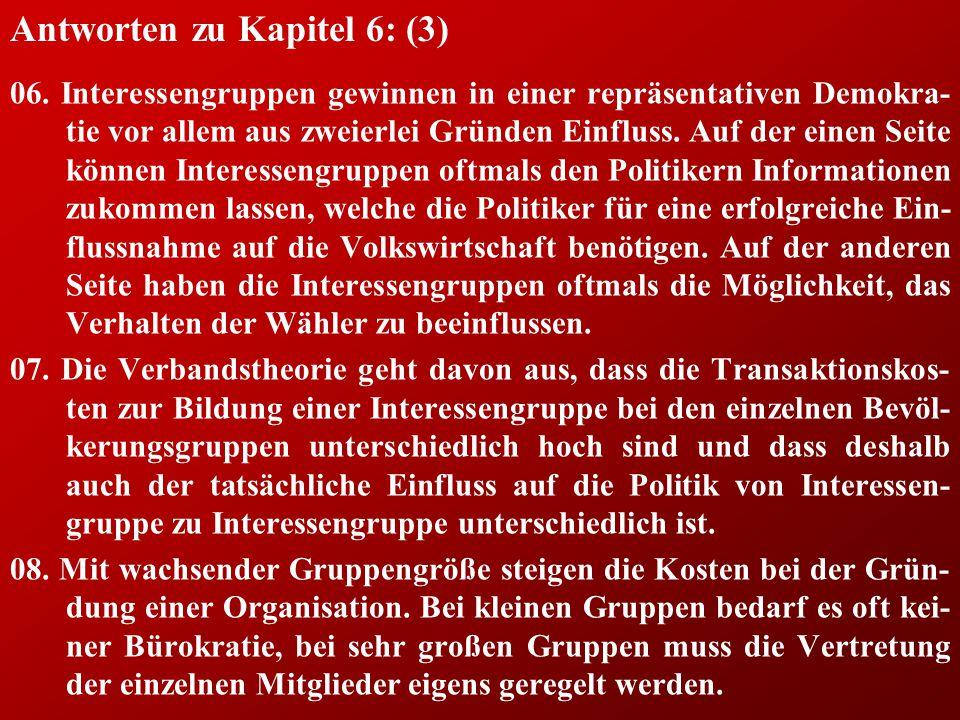 Antworten zu Kapitel 6: (3) 06.