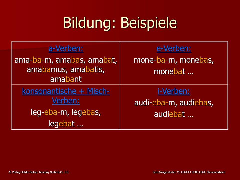 © Verlag Hölder-Pichler-Tempsky GmbH & Co. KG Seitz/Wagendorfer: CD LEGE ET INTELLEGE.