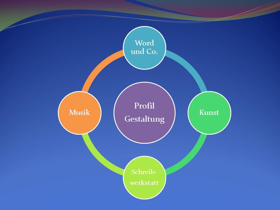 Profil Gestaltung Word und Co. Kunst Schreib- werkstatt Musik
