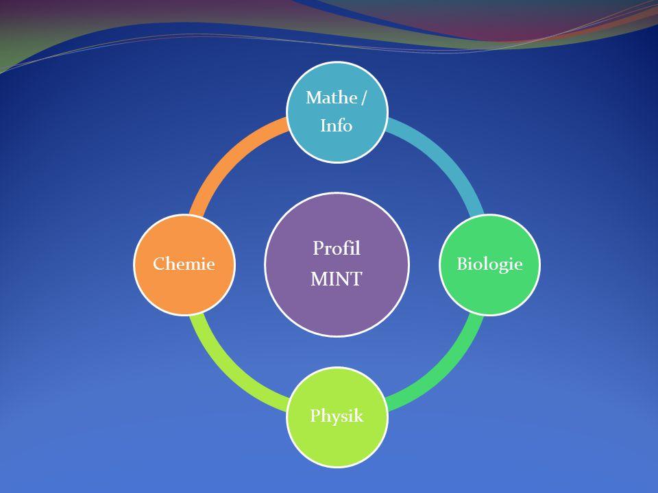 Profil MINT Mathe / Info BiologiePhysikChemie