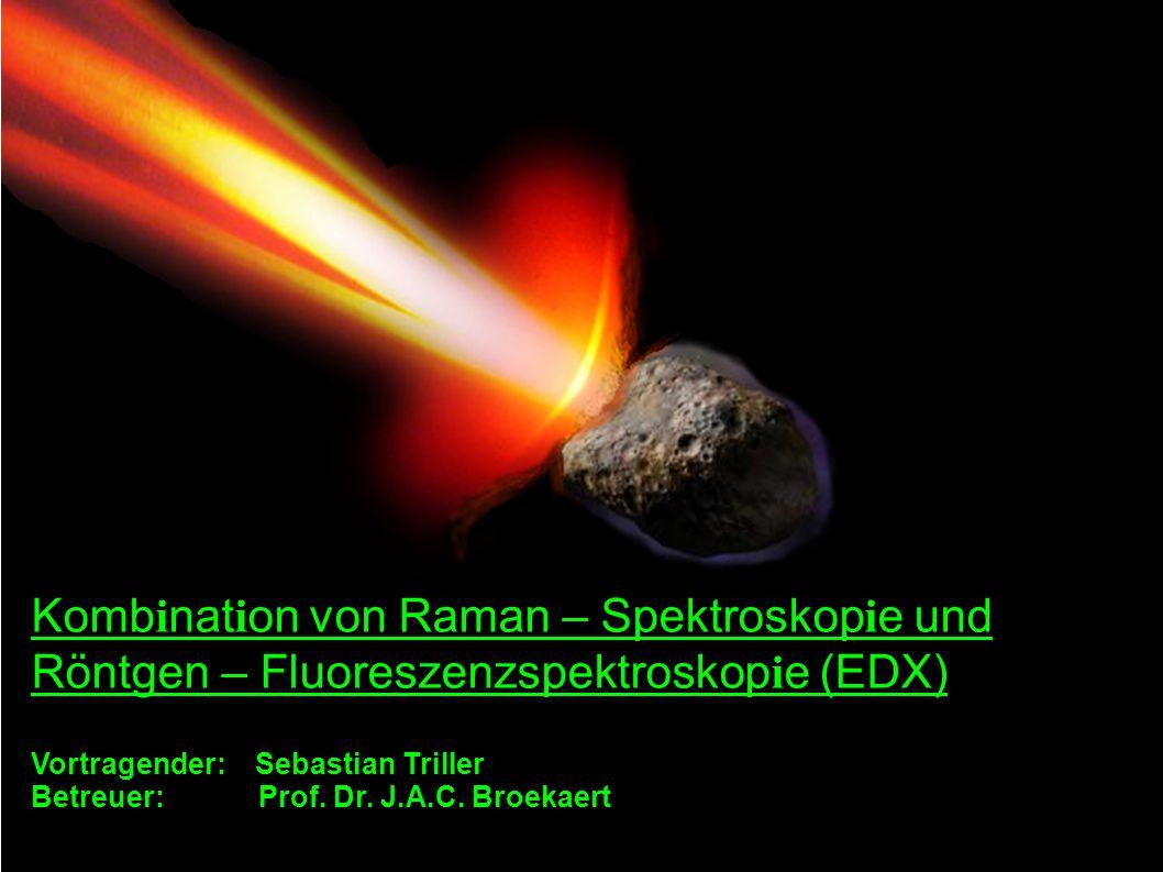 Komb i nat i on von Raman – Spektroskop i e und Röntgen – Fluoreszenzspektroskop i e (EDX) Vortragender: Sebastian Triller Betreuer: Prof. Dr. J.A.C.