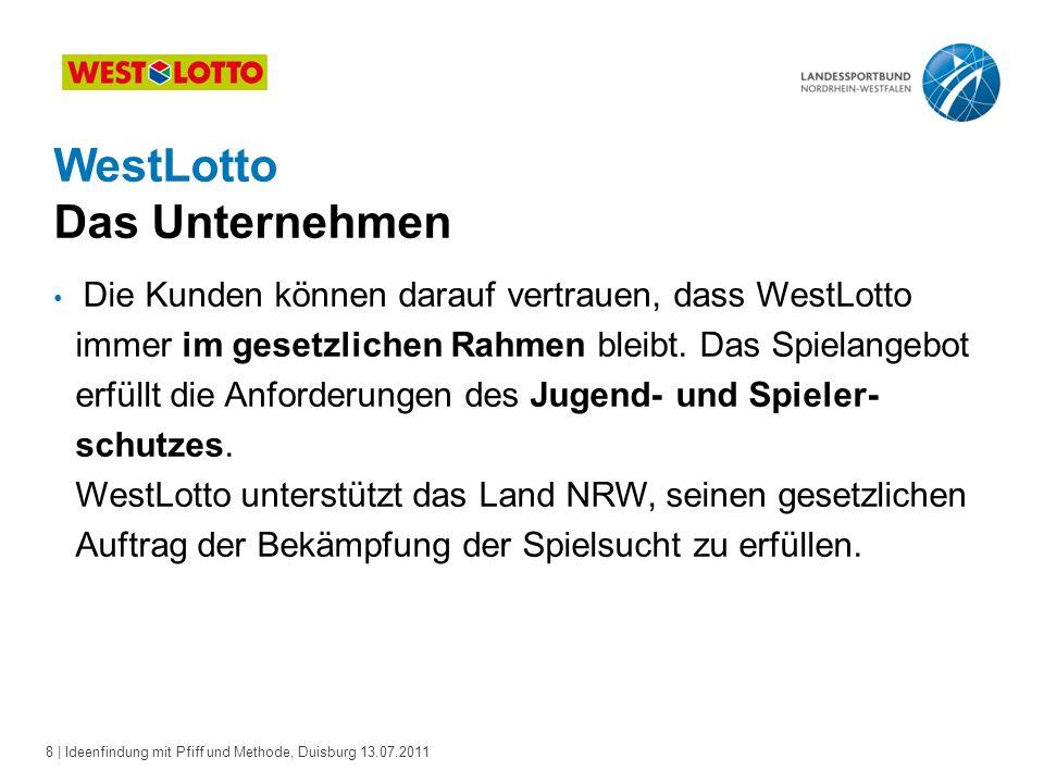 9 | Ideenfindung mit Pfiff und Methode, Duisburg 13.07.2011 Über 900 Mio.