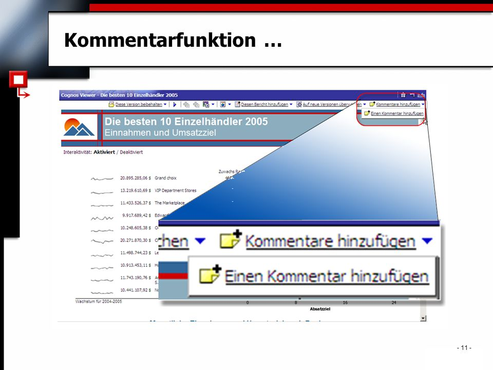 . - 11 - Kommentarfunktion …
