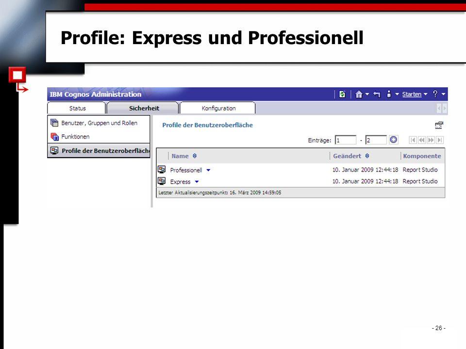 . - 26 - Profile: Express und Professionell