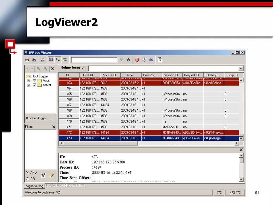 . - 51 - LogViewer2