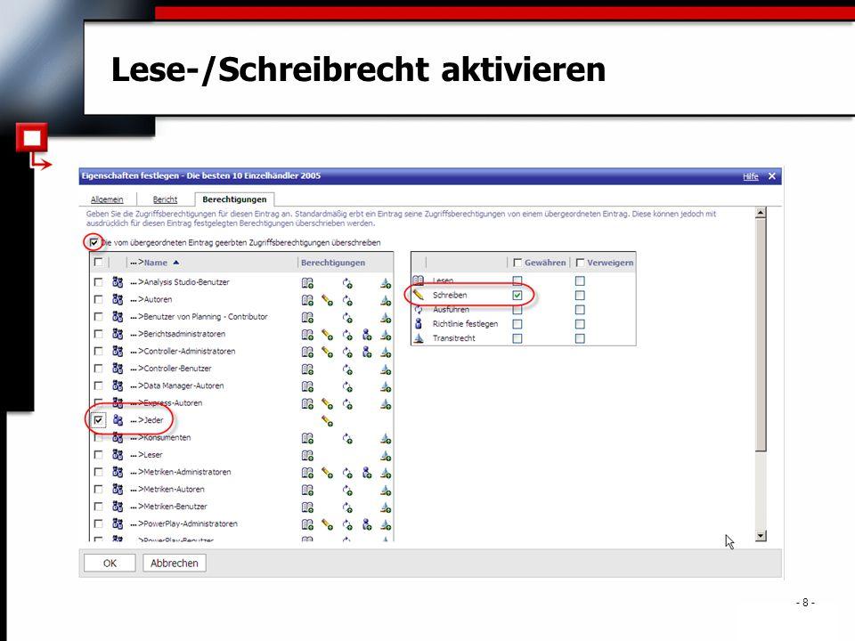 . - 39 - Framework Manager – Determinanten