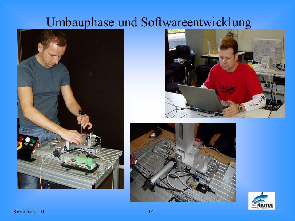 Revision: 1.014 Umbauphase und Softwareentwicklung