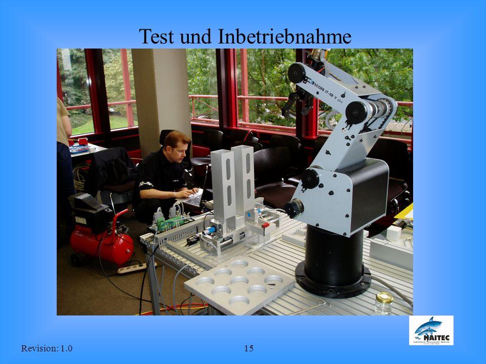 Revision: 1.015 Test und Inbetriebnahme